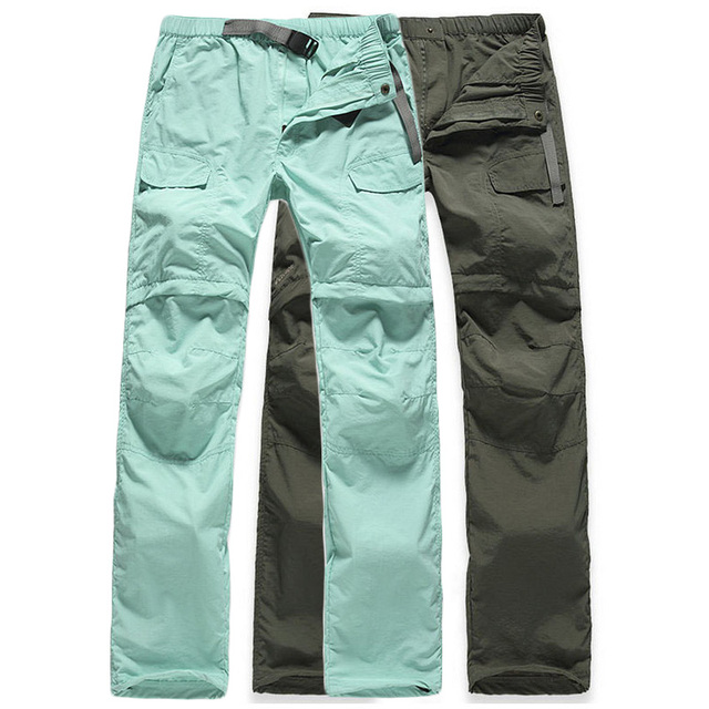 0b80982403 Women's Removable Breathable Quick Dry Outdoor Hiking Pants Women Trekking  Sport Trousers Army Summer Camping Short