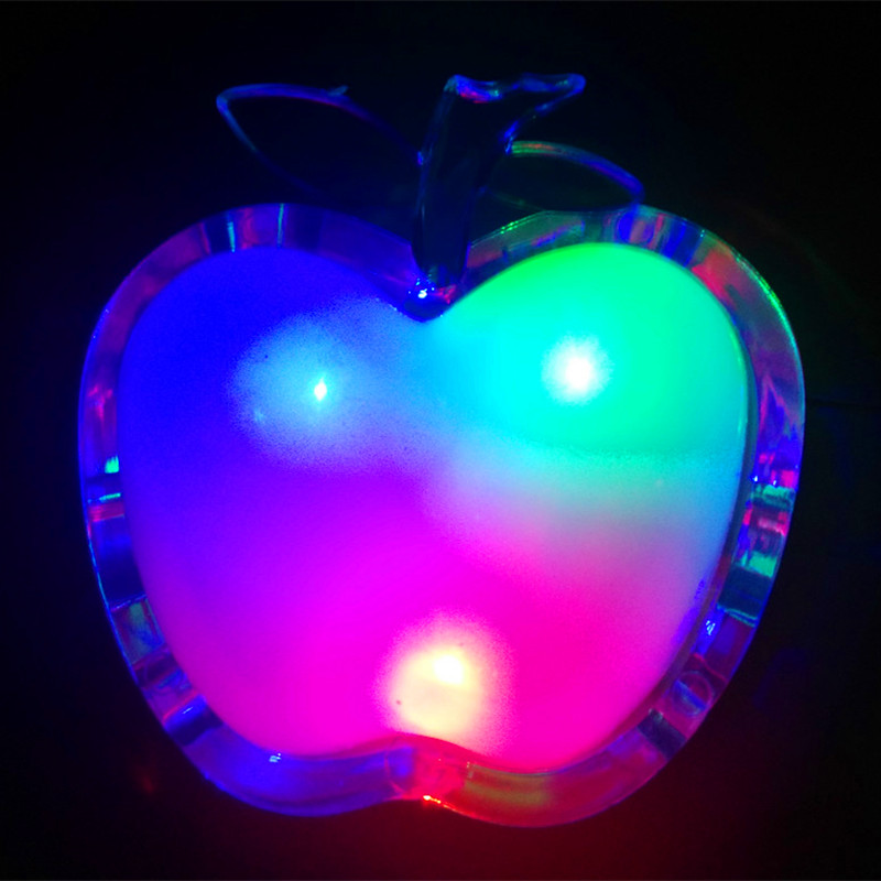 Beautiful Night Light LED 220v Bedside Lamp Energy-saving Colorful RGB Wall Lamp Apple EU Plug Nightlight for Children Gift