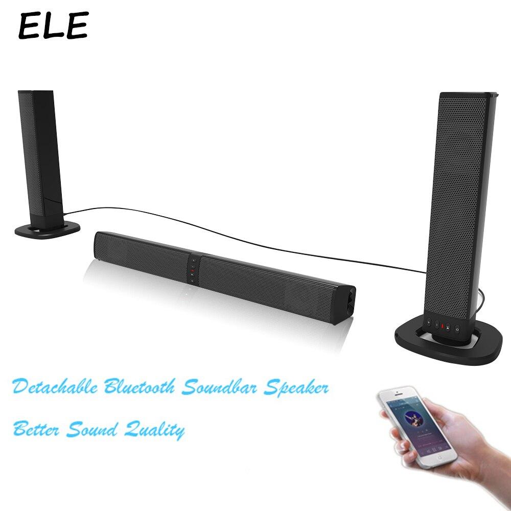 ELE ELEOPTION 20 W sans fil Bluetooth haut-parleur barre de son TV colonne haut-parleurs barre de son Boom Box USB AUX Mp3 son stéréo