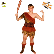 Original Adult Men Jungle Caveman Cosplay Carnival Costumes Stone Age Stag Halloween Costume  The Croods male Party  Performance