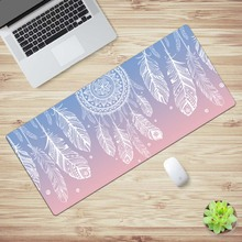 OEM Game Mouse Pad 900*400 MM Soft Rubber Dream catcher Flower Image Comfort Gaming Mat Mice Pad Computer Laptop MousePad