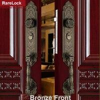 Rarelock Christmas Supplies Luxurious Handle Door Lock for Bedroom Dining room Meeting room Retro Decorative pattern a