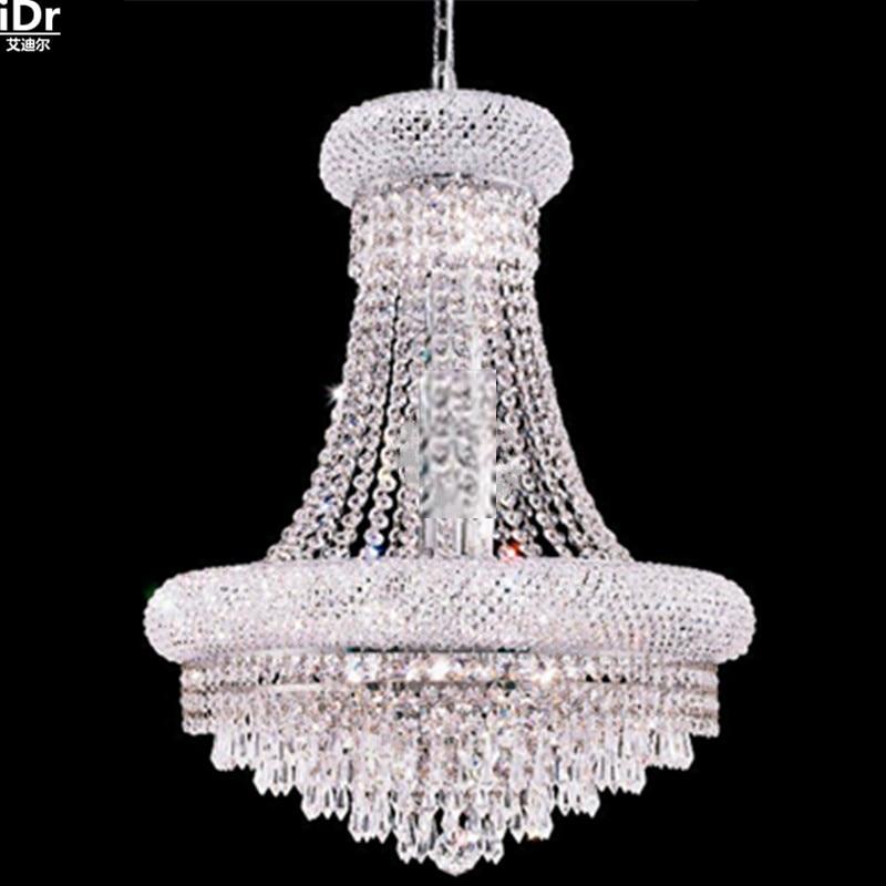 Lustras kristāla lampa zeltaini hroma lampa priekštelpu spuldze - Iekštelpu apgaismojums