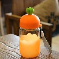 لطيف الفاكهة زجاج كأس الماء البطريق الإبداعية البسيطة القدح طالب هدية زهرة الزجاج