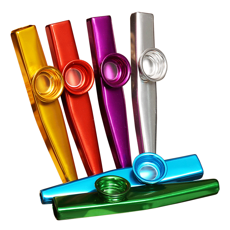 6 Pieces/lot Metal Kazoo Lightweight Portable For Beginner Flute Instrument Music Lovers Woodwind Instrument Simple Kazoo Flutes