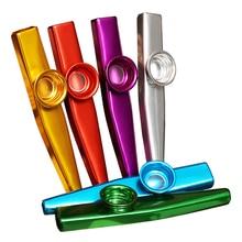 купить 6 Pieces/lot Metal Kazoo Lightweight Portable For Beginner Flute Instrument Music Lovers Woodwind Instrument Simple Kazoo Flutes дешево