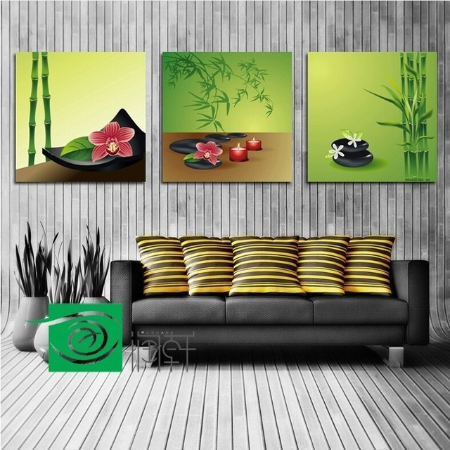 3 Panel Wall Art Feng Shui The Picture Home Decoration Living Room For