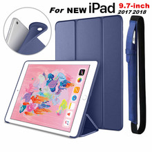 цена на for iPad 9.7 6th 5th Gen Case Smart Cover Trifold Stand Soft Back Cover for NEW iPad 9.7 2018 2017 a1822 a1823 Auto Sleep/Wake