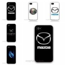 Custom Design Car Logo Mazda 626 Familia Aux For Apple iPhone 5C Case Hard Plastic Mobile Phone Cover Accessories 2015 Brand New