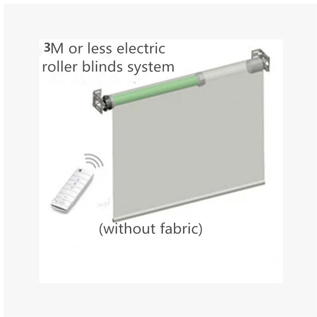 Eruiklink3M Width Elecric Customizable Rolling System With Dooya Tubular Motor DM35S / 35R Fabricless Home Automation