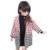 2017 Novo Designer Da Marca de Inverno Casacos De Lã De Casacos E Jaquetas de Meninas Roupas de Bebê Patchwork Xadrez Crianças Single-breasted Longo casaco