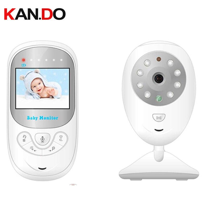 Moniteur de bébé vidéo sans fil pour les nouveau-nés 2.4 pouces IR Vision nocturne berceuses affichage de la température moniteur de bébé avec lecteur de musique