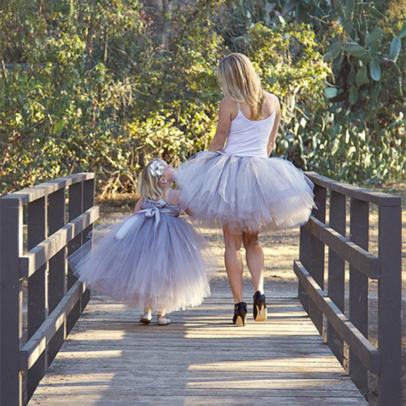 661039845d Matching Mother Daughter Dresses Clothes Family Fitted clothing Princess  Party Tulle Tutu Dress Mom And Daughter Dress Outfits-in Matching Family  Outfits ...