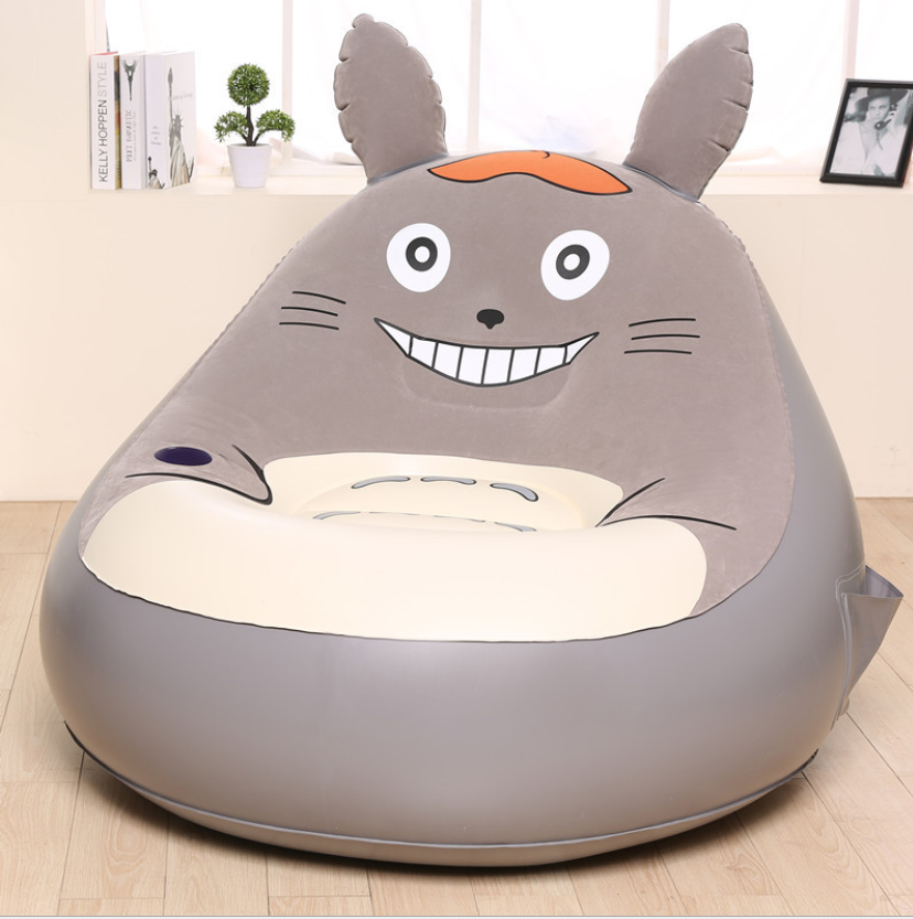 Image 5 - Cartoon Chinchilla Inflatable Sofa Folding Tatami Bedroom Balcony Lounge Chair Small Sofa Lounger Chair Seat Cushion-in Cushion from Home & Garden