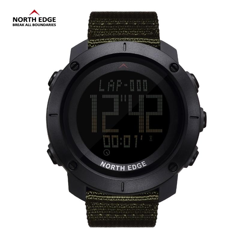 994a29d9edbe El borde norte Digital Wristwtaches impermeable negro