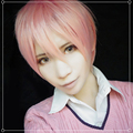 10 Ten Count Tadaomi Shirotani Cosplay Wig Pink Short Straight Synthetic Hair Anime Cosplay Wig