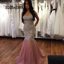 XGGandXRR Luxury Crystal Mermaid Prom Dress 2019 Sweetheart