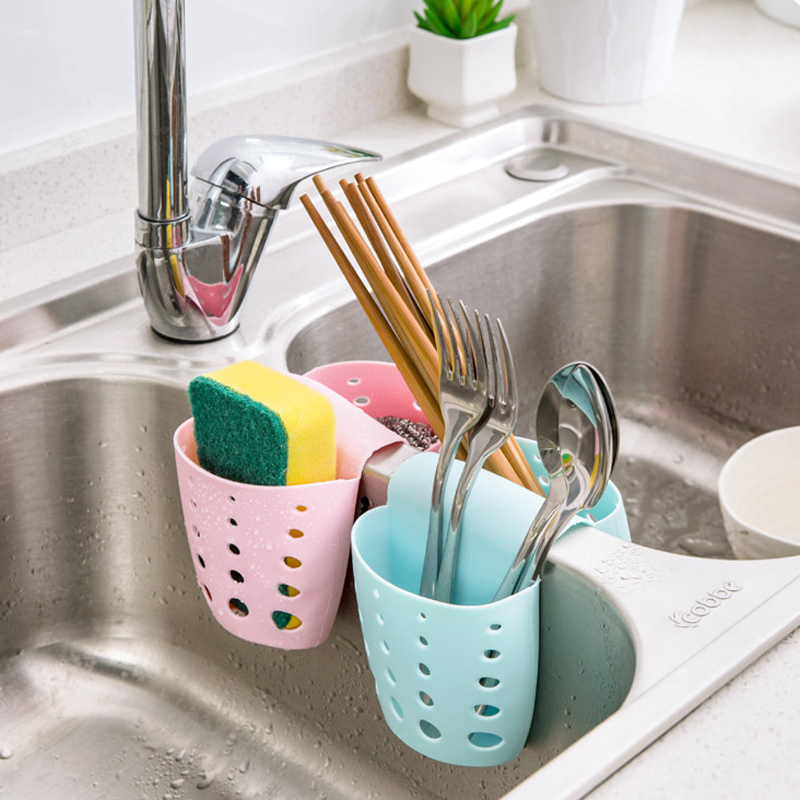 Fheal kitchen sink sponge holder bag two sided drain dish cloths fheal kitchen sink sponge holder bag two sided drain dish cloths storage rack bathroom faucets shelving detachable basket in storage baskets from home workwithnaturefo