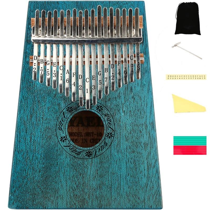 Professional Mahogany 17 Keys Kalimba With Tune Hammer And Bag Portable Thumb Piano African Mbira Sanza