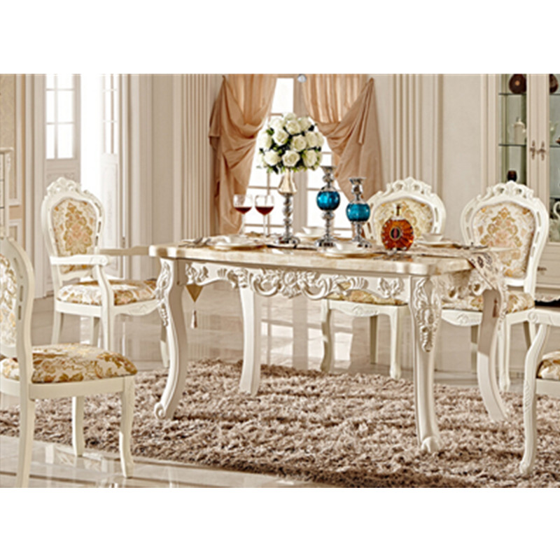 Bench Style Dining Sets: Luxury Italian Style Dining Table Set-in Dining Tables