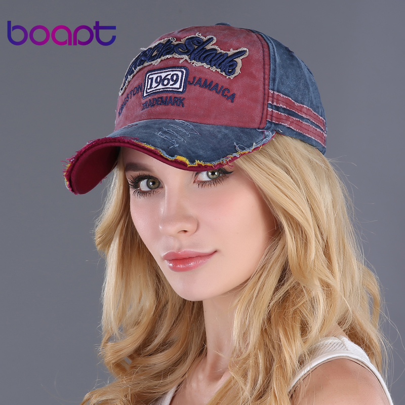Prix pour Boapt rétro lettre broderie chapeaux occasionnels femmes chapeau hip hop d'été coton vintage casquettes snapback unisexe hommes casquette de baseball féminin