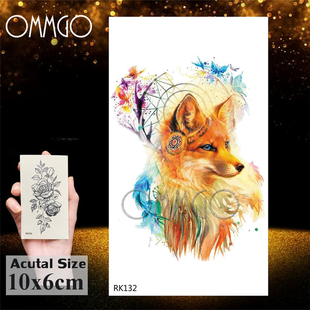 Watercolor Astronaut Universe Temporary Tattoos Sticker For Kids Fake Tattoo Planets Star Tatoos Children Waterproof Space Man 2