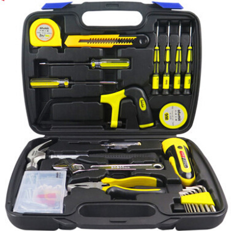 65PCS of household toolbox sets of electrical tools hardware kit combination sets Screwdriver Set knife Repairs tools kit DN140 tool 15 sets of household portfolio tools promotional gift set