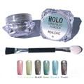 2 g/caja 0.05mm Holográfica Láser polvo Glitter Polvo Del Polvo de Uñas de Arte Glitters Polvo Holo Astilla Brillante Nail Art Decoraciones conjunto