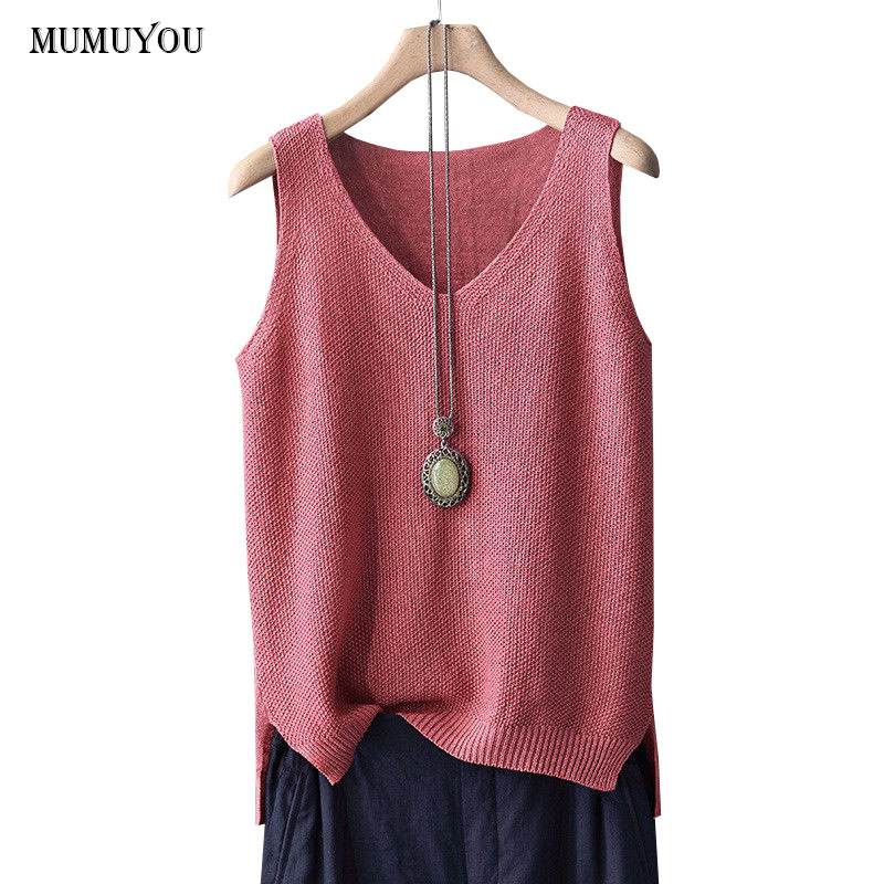 d1bf267a8615ac Detail Feedback Questions about Women Cotton Linen Tank Tops Loose Casual  Vest V Neck Sleeveless Solid Summer Sexy Tops Streetwear 912 363 on  Aliexpress.com ...