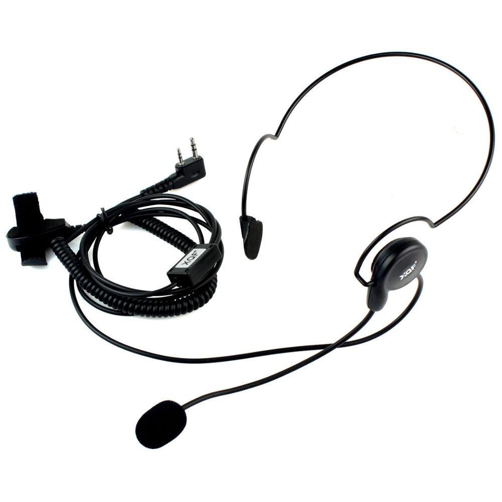 2 pin ecouteur mic finger ptt casque pour kenwood baofeng uv-5r 777 888 s radios