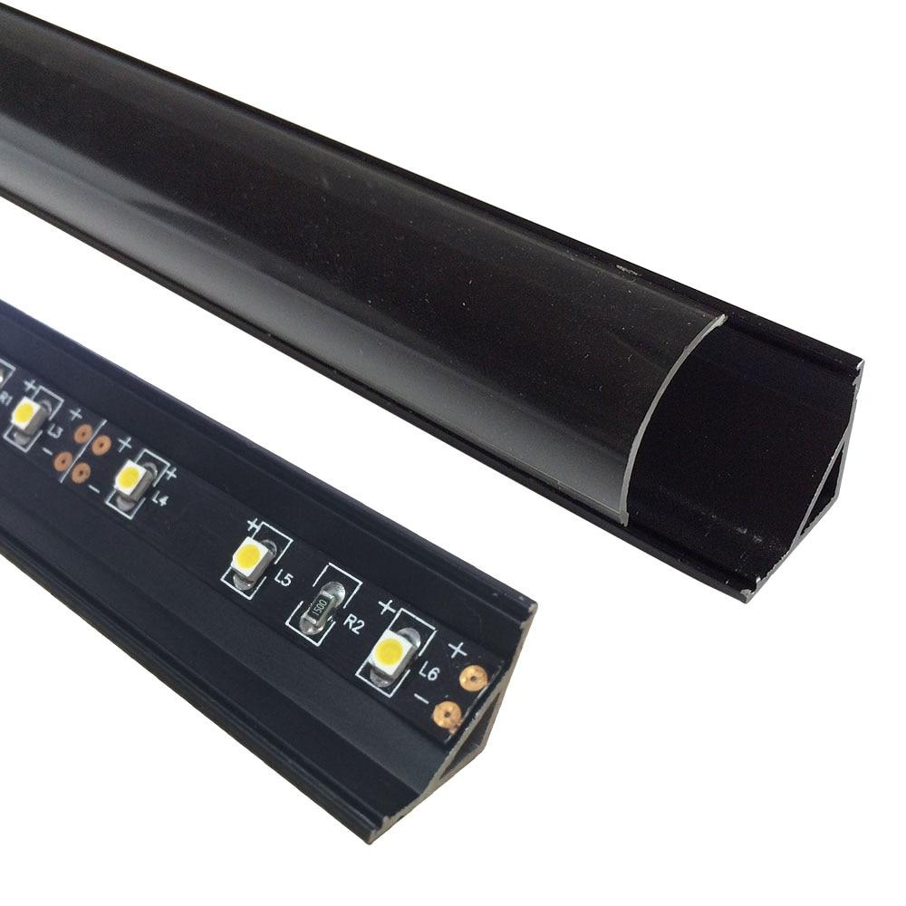 5 սեթ / լոտ 5x1M (3.3ft) Սև LED ալյումինե - LED լուսավորություն - Լուսանկար 4