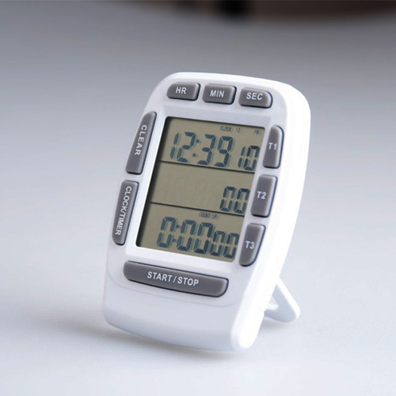 TFree shipping, three channel kitchen timer, LCD screen timer, memory function timer timer at11en