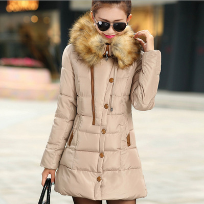 New winter Down jacket High Quality women Warm Jacket Coat Hood Europe Style long cotton coat outwear thicken Warm Hooded coat europe new 2015 winter warm long duck down jacket coat women high quality hooded thicken plus size windproof parka ae714