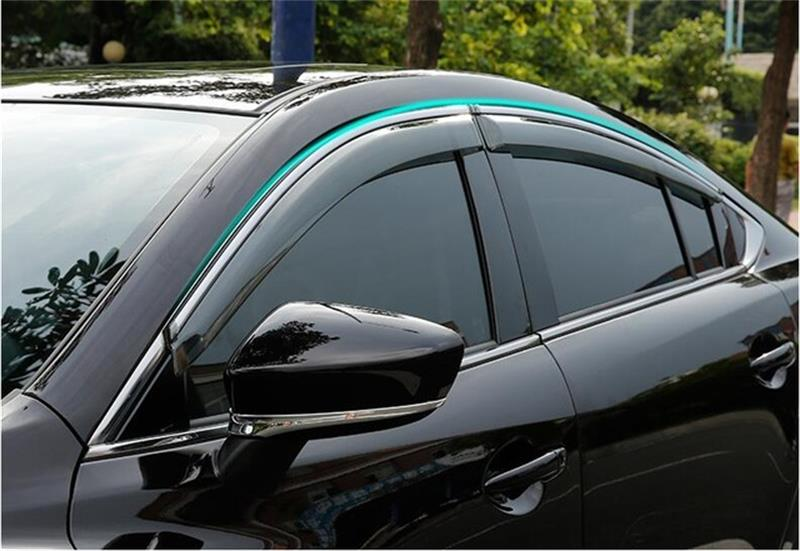 For MAZDA 6 Atenza 2014 2015 2016 2017 Window Visor Vent Shades Sun Rain Deflector Guard Awnings Car Styling Accessories for ford explorer sport 2013 2014 2015 2016 2017 abs plastic window visors awnings rain sun deflector visor guard vent cover
