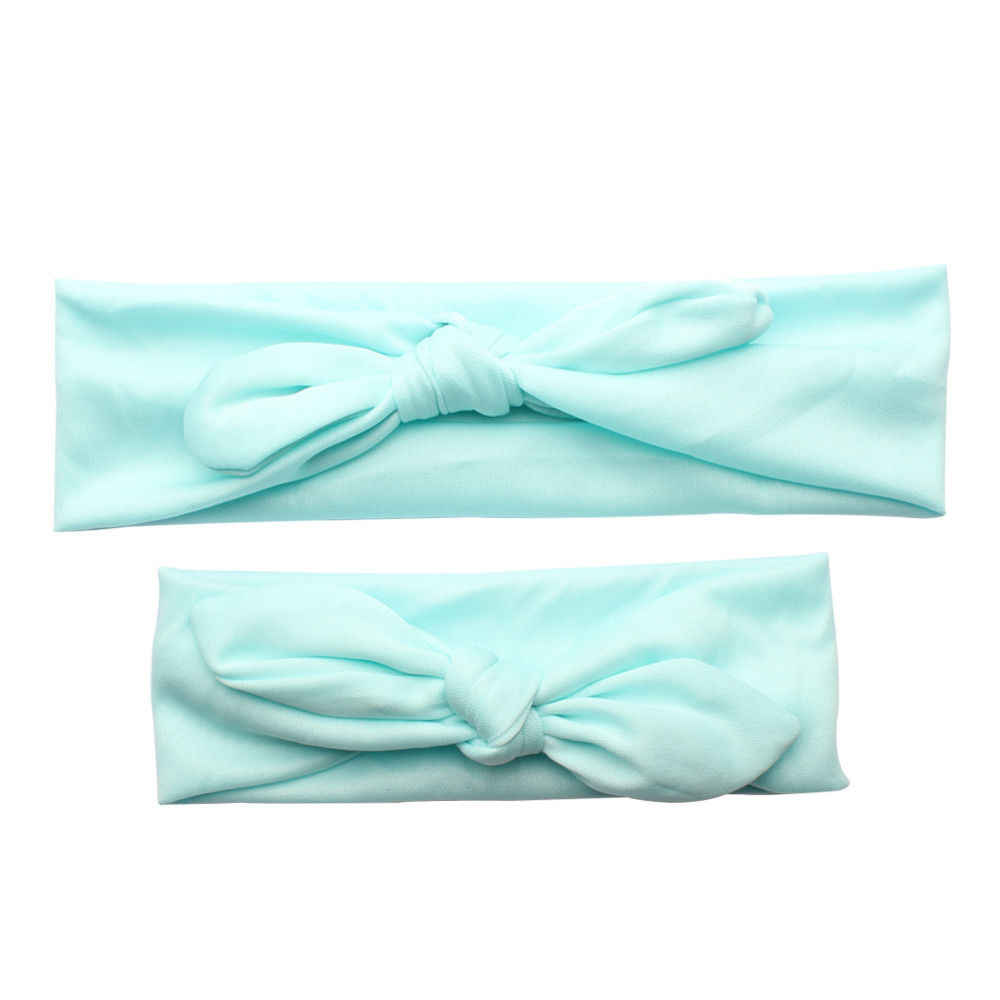 2 предмета, детские головные уборы для мамы и дочки, резинка с бантом тюрбан с узлом, повязка на голову, модный головной убор принцессы с бантом для детей