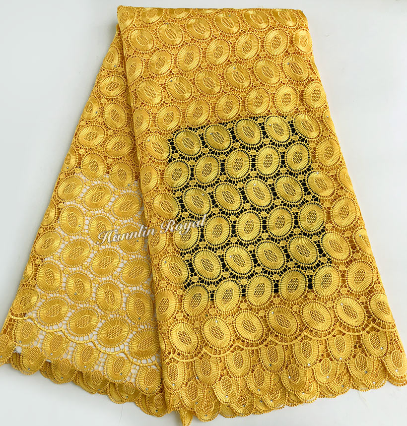 Yellow Heavy African Guipure Lace Cord Lace fabric 5 Yards 933 high qualityYellow Heavy African Guipure Lace Cord Lace fabric 5 Yards 933 high quality