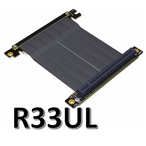Image 3 - Cabo adaptador de placa mãe pcie x16 para x16, extensão de placas gráficas com ângulo de 90 graus para itx, placa mãe, chassis, mini pc estojo