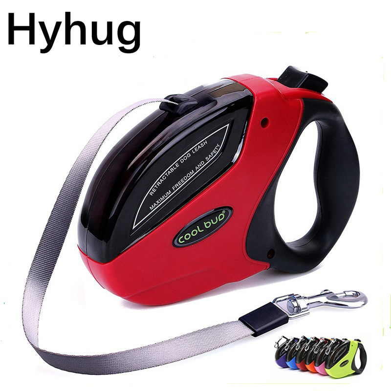 Pet Retractable Leash ABS Large Medium Dogs Automatic Extending Traction Rope 5M 50KG Luxury Walking Dog