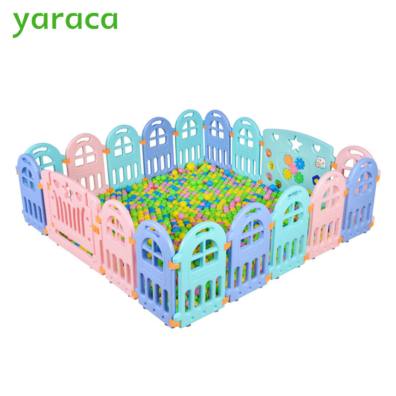 Baby Playpen Fencing For Children Plastic Playpen for Baby Indoor Kids Plastic Fence Play Yard Safety Barriers For Children цены онлайн