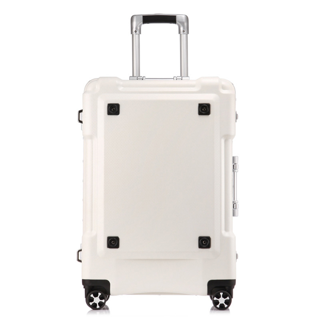 Letrend New 24 29 Inch Rolling Luggage Aluminium Frame Trolley Solid Travel Bag 20' Women Boarding Bag Carry On Suitcases Trunk