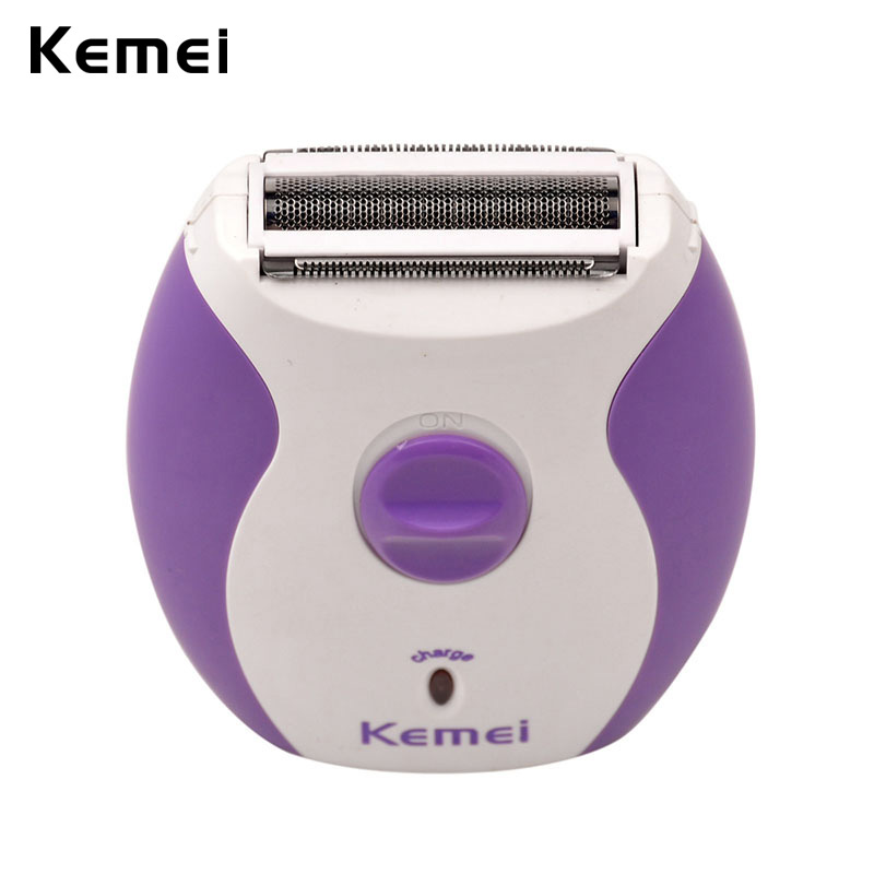 Kemei Rechargeable Women Epilator Electric Lady Shaver For Body Armpit  Underarm Leg Depilador Hair Removal Bikini Shaving washable mini lady electric eyebrow trimmer body face hair remover shaver epilator for women s female body underarm bikini line
