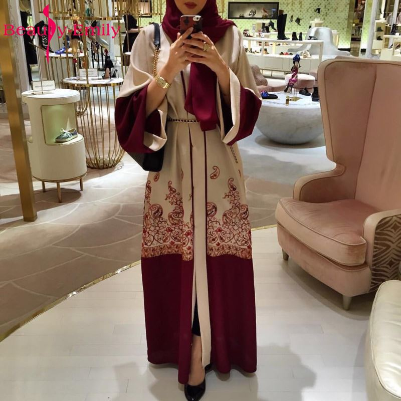 7aa666f49ff Beauty Emily Wine Red Plus Size Muslim Evening Dresses 2018 Women Formal  Long Arab Evening Party