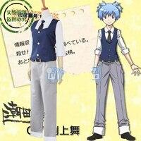 Assassination Classroom Cosplay Costume Japanese Anime Shiota Nagisa Clothes Vest & Shirt & Pants & Tie Uniform Outfit