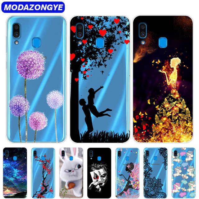 competitive price b62f9 c443b Case For Samsung Galaxy A20 Phone Case Silicone Soft TPU Cartoon Back Cover  Case For Samsung Galaxy A20 A 20 A205 A205F SM-A205F