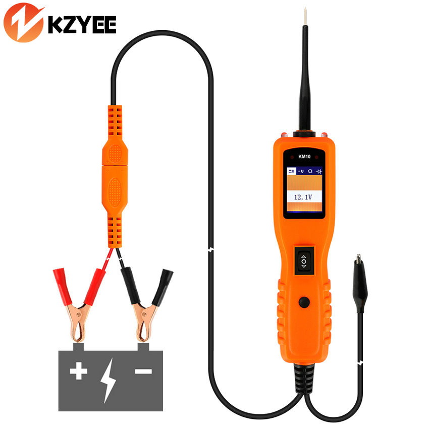 Prix pour Auto 12 V Tension Voiture Électrique Testeur de Circuit Automobile Outils KM10 Puissance Sonde Même comme PT150 YD208 Système Électrique Testeur