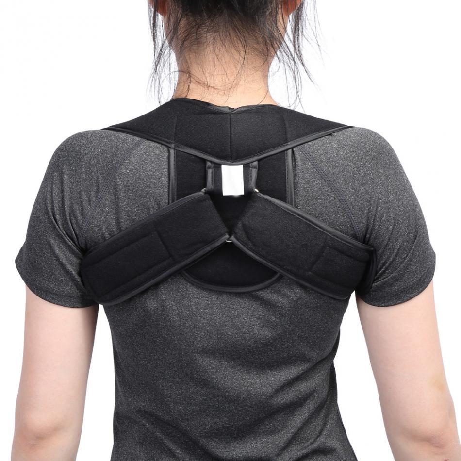 Back Belt Adjustable Posture Corrector Children Adult Corset Spine Support Poor Shoulder ...