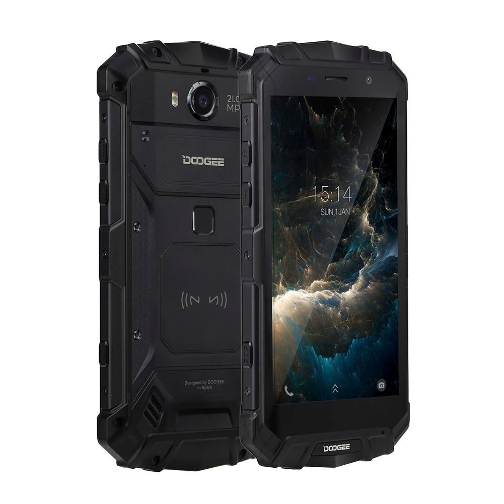DOOGEE IP68 S60 12V2A Carga Rápida de Carga Sem Fio 5580 mah 5.2 ''FHD Helio P25 Octa Núcleo 6 gb 64 gb Smartphones Câmera 21.0MP
