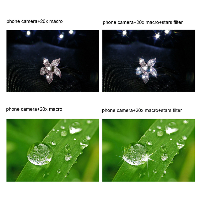 APEXEL Optic phone lens,  25mm 20x super macro lens with star filter mobile photography lente for iPhone Samsung smartphone 4