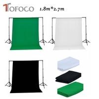 TOFOCO Black White Green Color Cotton Non pollutant 1.8x2.7m Textile Photo Backgrounds Studio Photography Screen Backdrop Cloth