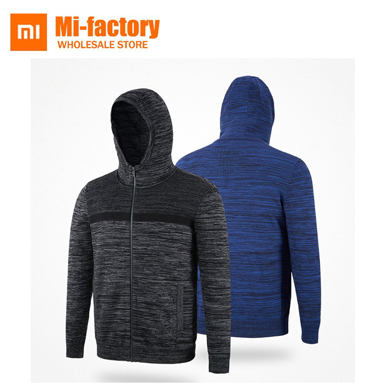 цена Xiaomi MITOWN Autumn Winter Men Fly Knit Elastic Jacket Jumpers Warm Light Classic Fashion Jacquard Design Sweater New Arrival